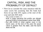capital risk and the probability of default6