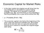 economic capital for market risks1