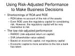 using risk adjusted performance to make business decisions4
