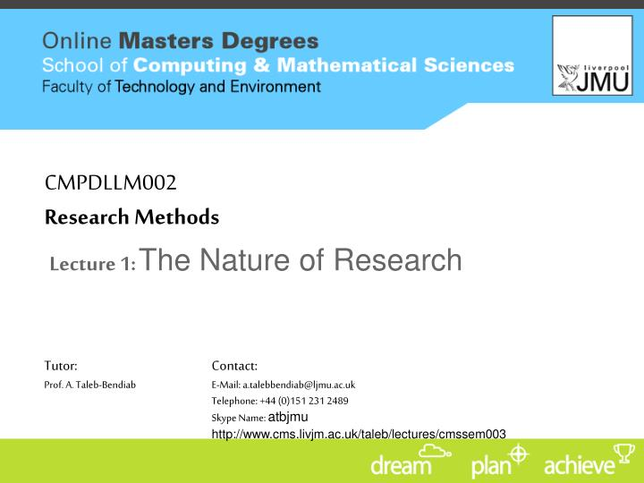 cmpdllm002 research methods n.