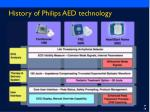history of philips aed technology