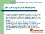 21 st century skills examples