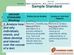 sample standard