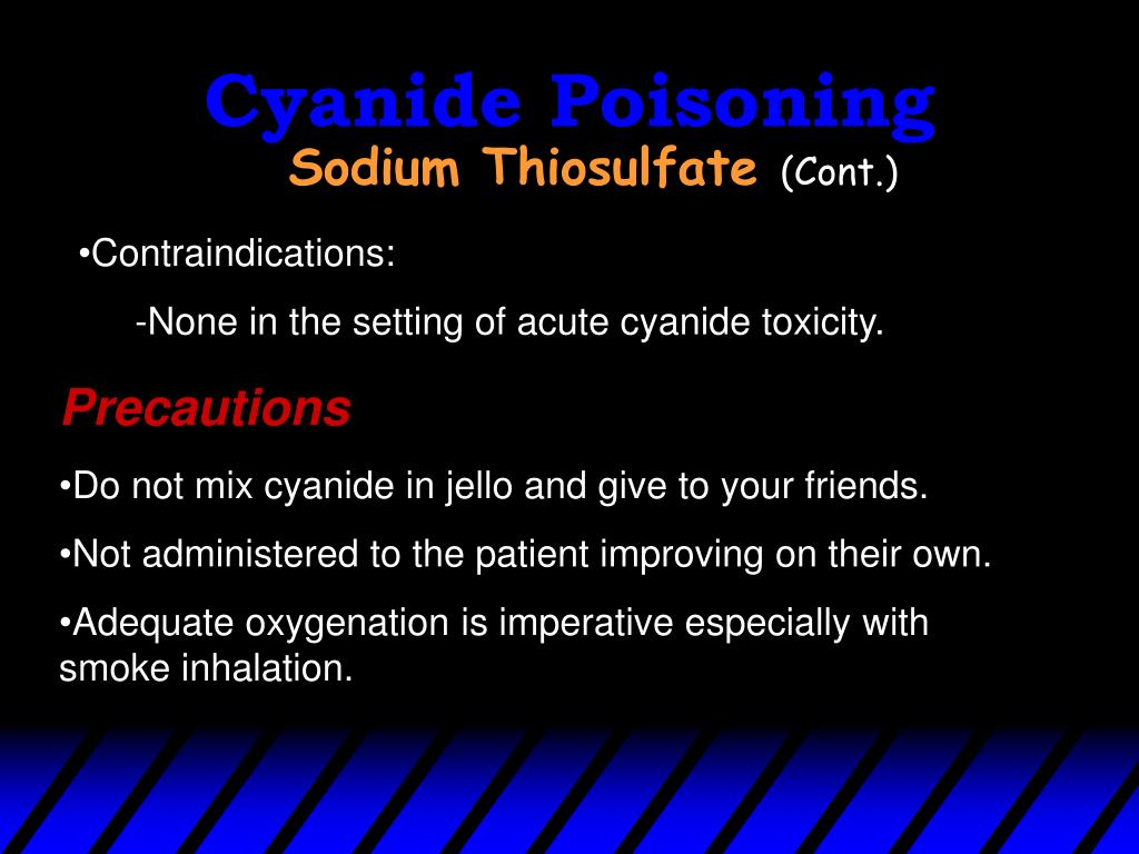 Cyanide Poisoning