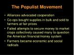 the populist movement23