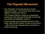 the populist movement27