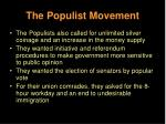 the populist movement28