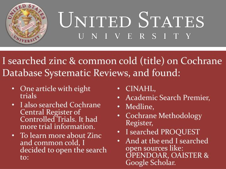 common cold and academic search Search for: the academic cold contact standard my first experience in contacting people i didn't know to 'collaborate' was when i was searching for a phd position although there was a common thread to each email, i tried to tailor them to the person i was contacting.