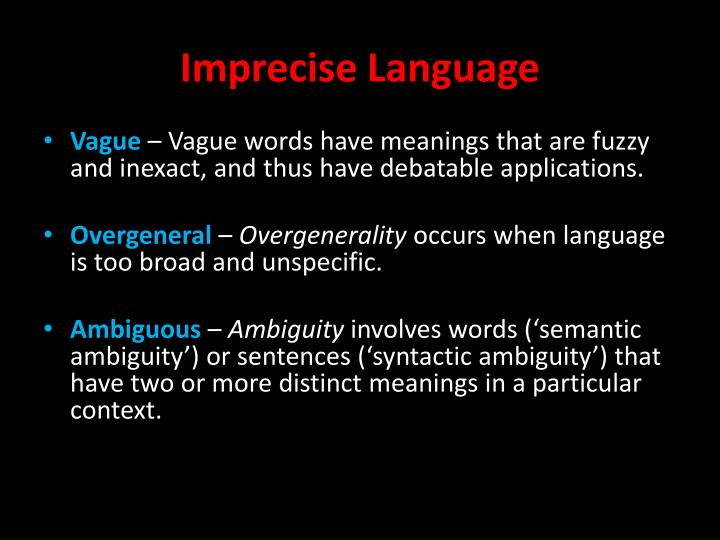 vague and ambiguous Define vague vague synonyms, vague pronunciation, vague translation, english dictionary definition of vague adj vagu r , vagu st 1 not clear in meaning or expression inexplicit.