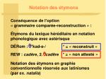 notation des tymons
