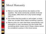 moral humanity