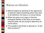 warren on abortion