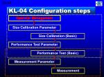 kl 04 configuration steps