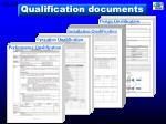 qualification documents