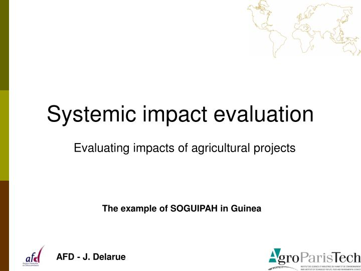 systemic impact evaluation n.