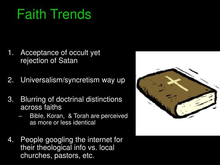 Faith Trends