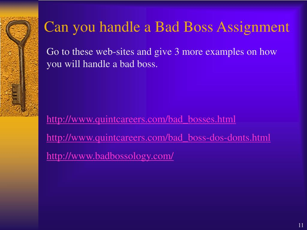 Can you handle a Bad Boss Assignment