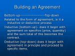 building an agreement
