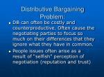 distributive bargaining problem
