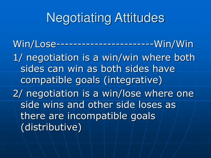 Negotiating Attitudes