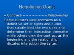 negotiating goals
