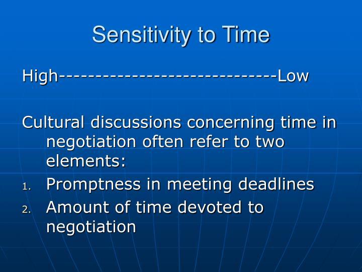 Sensitivity to Time