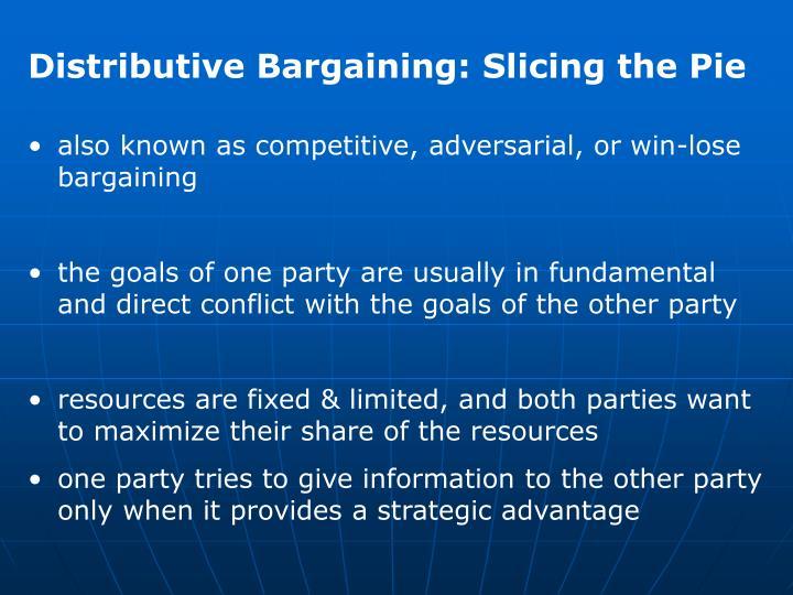 Distributive Bargaining: Slicing the Pie