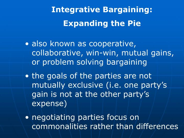 Integrative Bargaining: