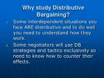 why study distributive bargaining