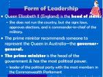form of leadership