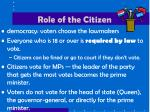 role of the citizen