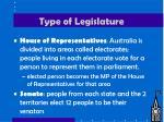 type of legislature1