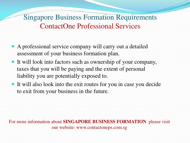 Singapore business formation requirements contactone professional services2