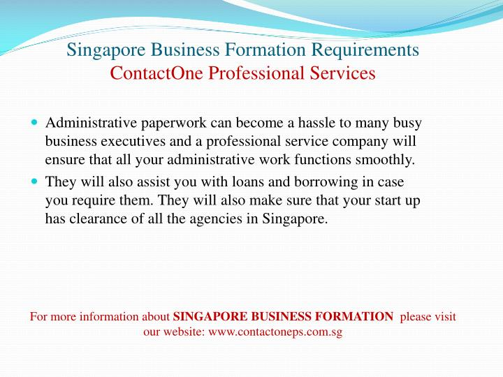 Singapore business formation requirements contactone professional services3