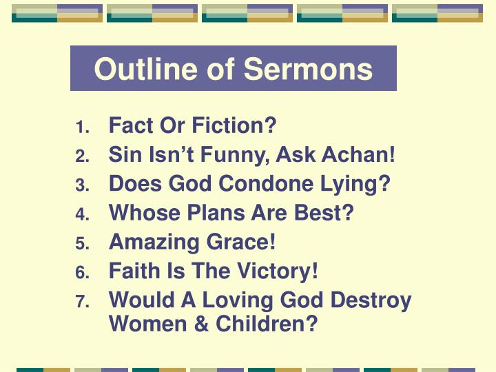 PPT - Outline of Sermons PowerPoint Presentation - ID:1379000