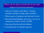 what can be done to limit the levels and impact of feed mycotoxins