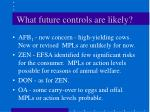 what future controls are likely