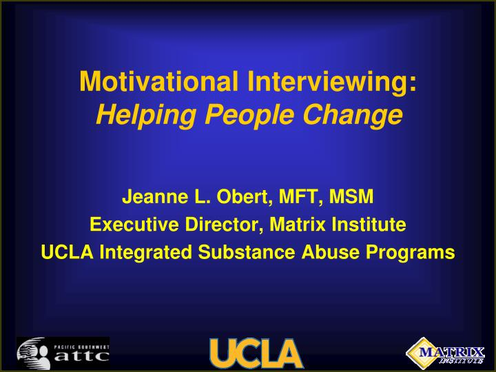 motivational interviewing helping people change n.
