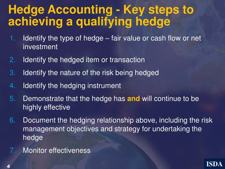 Hedge Accounting - Key steps to achieving a qualifying hedge