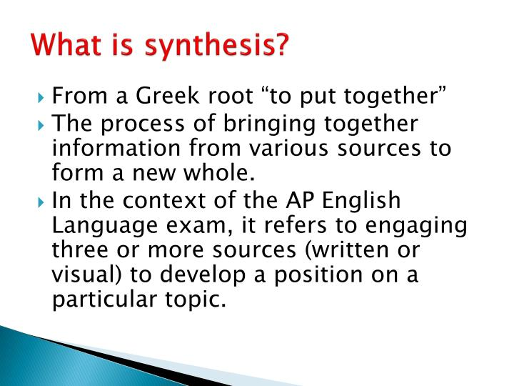 How to Write a Synthesis Essay: Basic Knowledge