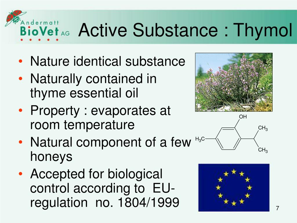 Active Substance : Thymol