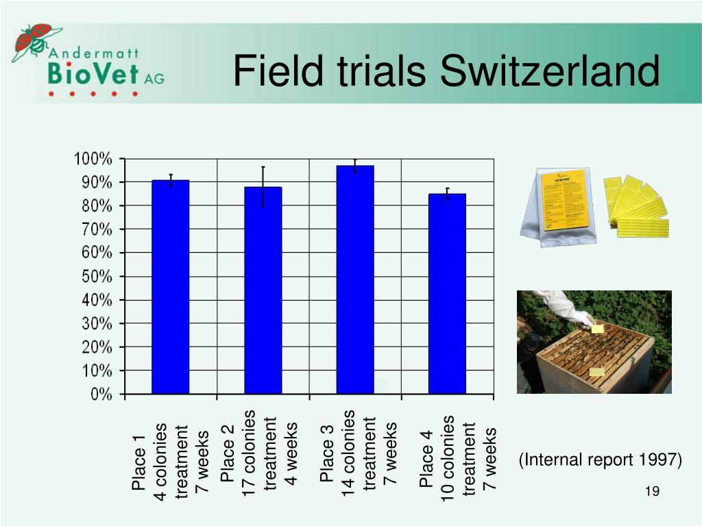Field trials Switzerland