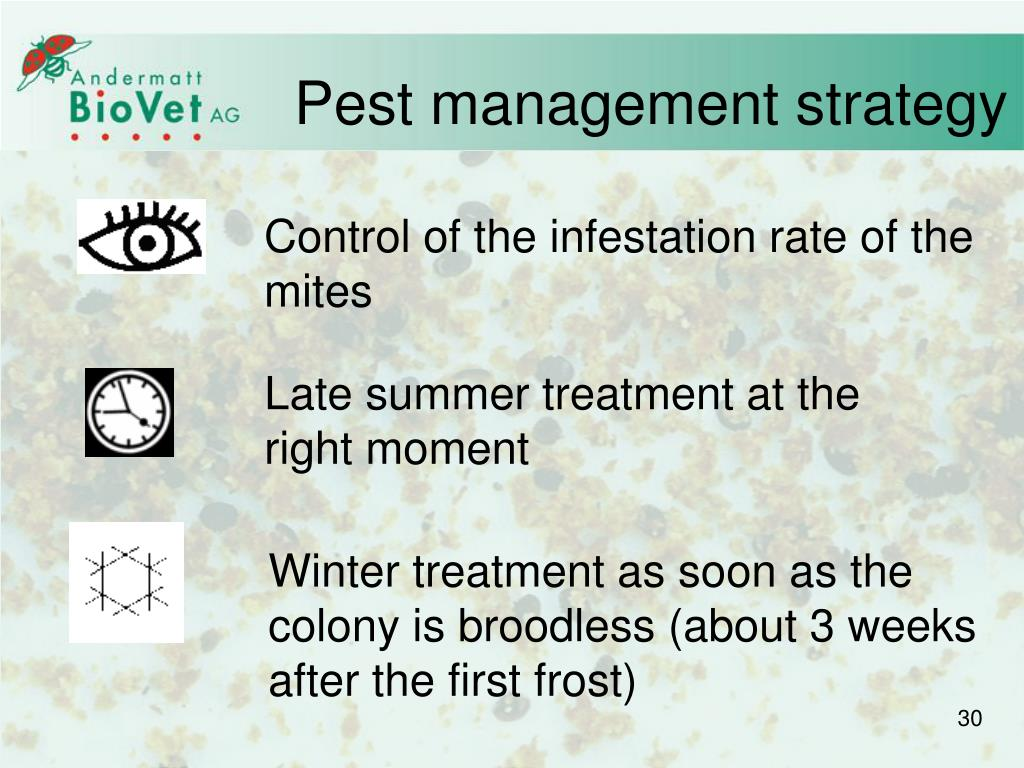 Pest management strategy