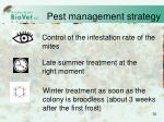 pest management strategy