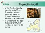 thymol in food