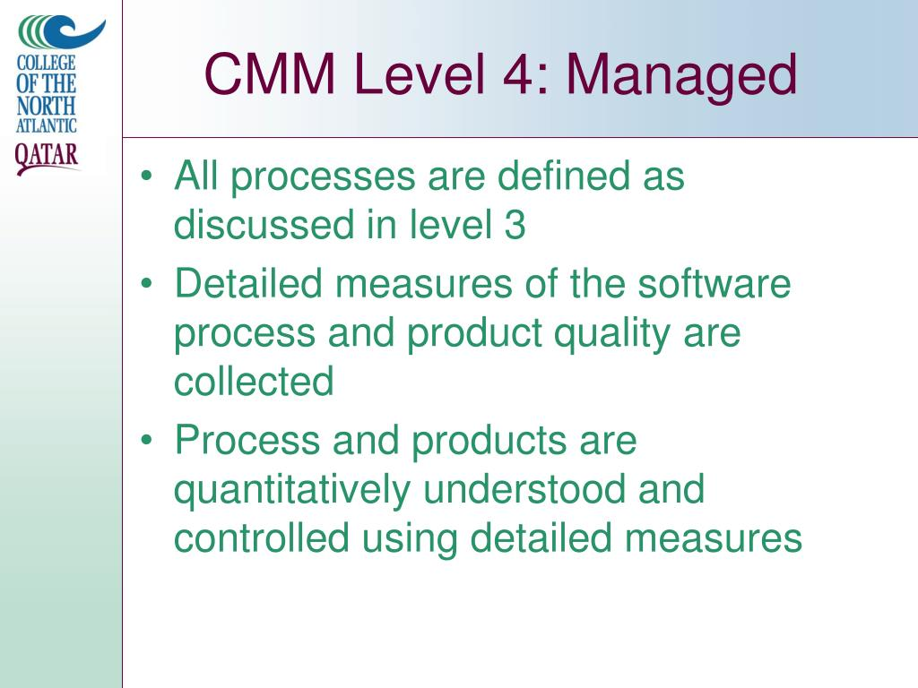 CMM Level 4: Managed