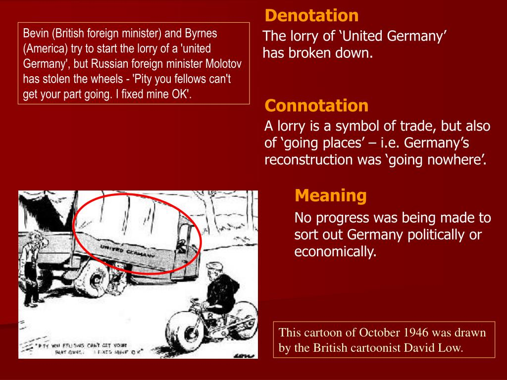PPT - This cartoon of October 1946 was drawn by the British