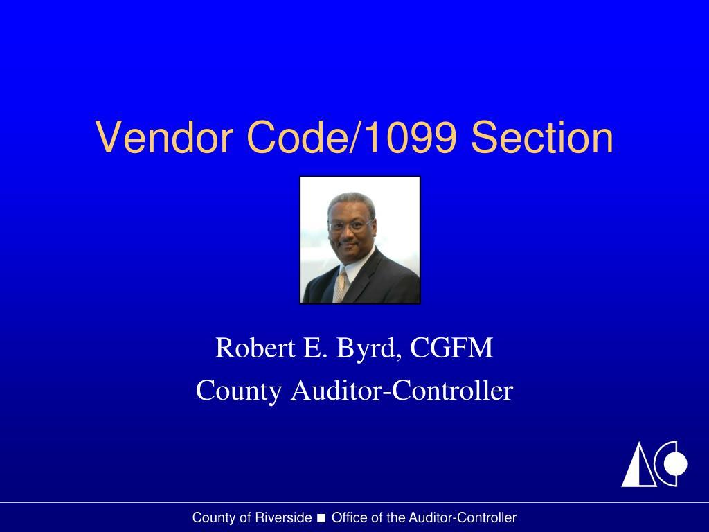 vendor code 1099 section l.