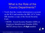 what is the role of the county departments