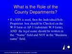what is the role of the county departments12